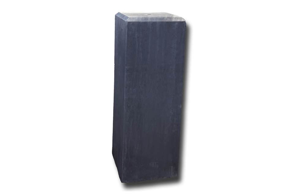 Betonpoer 17x17x50 cm antraciet met vellingkant