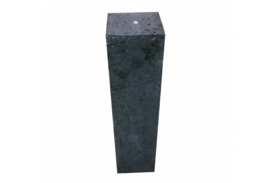 Betonpoer 20x20x60 cm antraciet oud Hollands