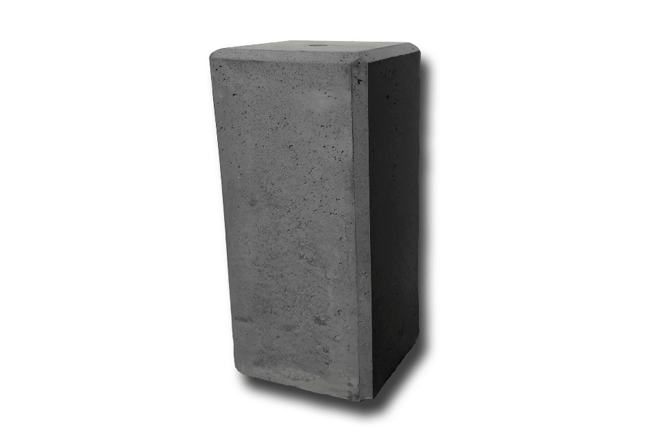 Betonpoer 22x22x50 cm antraciet